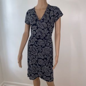 LOFT dress cross midi size SP blue navy